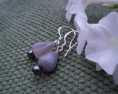 So Smart, Healing Stone Earrings, Banded Agate and Hematite, Gemstone Synergy