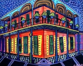 New Orleans Art French Quarter Art  Art Print Poster by Heather Galler