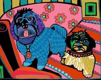 HAVANESE Art  Dog poster print of painting (Hg509)
