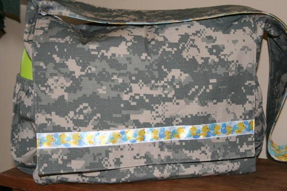 Rubber Ducky ACU Diaper Bag