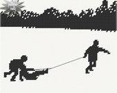 Needlepoint Pattern -- Tis the Christmas Holiday Season No. One (PDF)