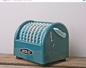 On Sale Vintage Adding Machine Mathematical Abacus SOLO made in Japan teal numbers tax machine