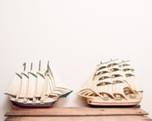 Nautical Decor ship boat yacht wall hanging 2 USA from Home Interiors boys room or old world office decor