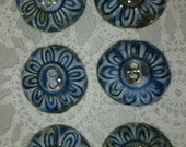 6 Porcelain Buttons Sewing Knitting Journals