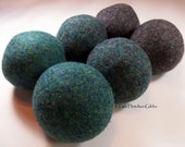 Wool Dryer Balls - Harry Potter Slytherin - Set of 6 Eco Friendly - Can be Scented or Unscented