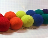 Wool Dryer Balls - Rainbow Colors Set of 12 - An Eco-Friendly Alternative to the Conventional Dryer Sheet and Fabric Softener! Kids Toys!