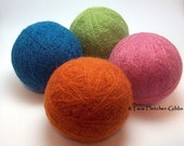 Wool Dryer Balls - Candy Store - Set of 4 - An Eco-Friendly Alternative to the Conventional Dryer Sheet and Fabric Softener!