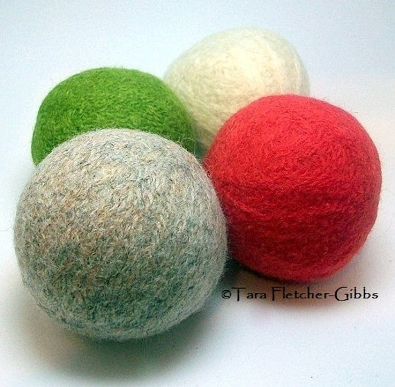 Wool Dryer Balls - Summer Garden - Set of 4 - An Eco-Friendly Alternative to the Conventional Dryer Sheet and Fabric Softener! Therapy Ball!
