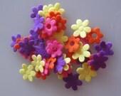 50 Felt Flower Embellishments