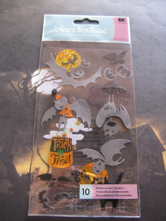 Jolees Stickers 3D Embellishments Halloween Bats SALE