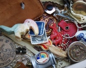 Childhood Trinket Collection Box of Old Things