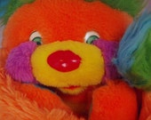 Puzzle Popples 12 inch Plush Neon Orange and Green