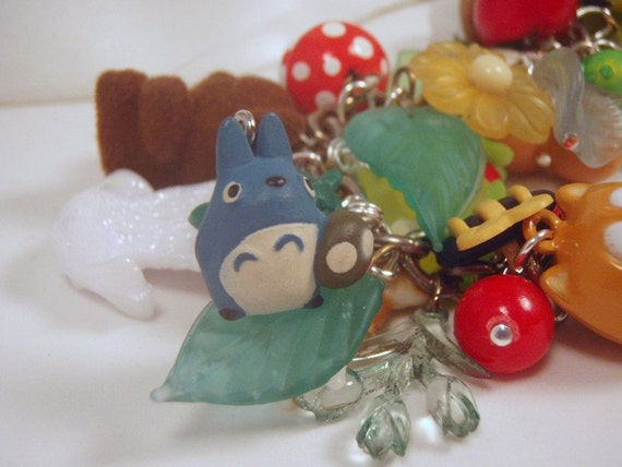 Super tiny Blue Totoro With Mushroom Charm Discontinued VERY Limited Stock