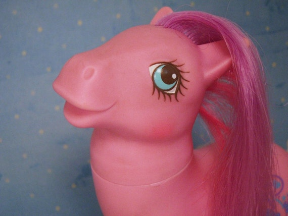 My Little Pony Sweet Talking Ponies Talk a Lot Chatterbox G1 Pink and Purple MLP WORKS