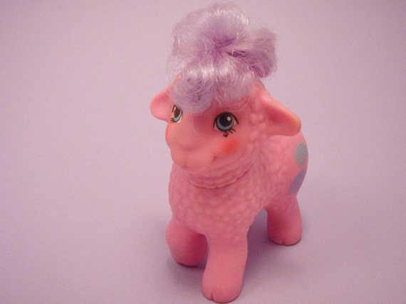 My Little Pony Baby Ponies and Pretty Pals Wooly Lamb G1 Pink and Purple MLP Sheep