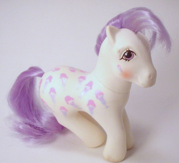 My Little Pony Twice as Fancy Play Set Scoops G1 Pastel Pink and Purple White MLP