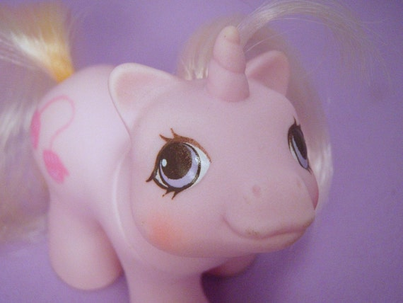 My Little Pony New Born Twins Baby Ponies Sniffles G1 Pastel Pink MLP