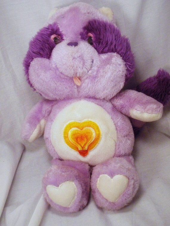 Bright Heart Raccoon Care Bears Cousin 13 inch Plush Purple