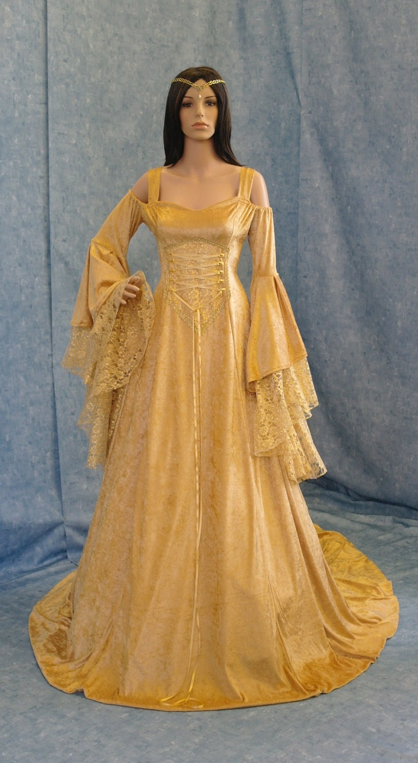 Renaissance medieval handfasting fantasy by for Medieval style wedding dress