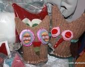 Sew your own sweet stuffed owl craft kit