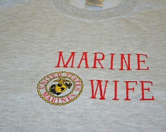 Marine Wife Sweatshirt,  USMC Army, Navy, Air Force, Coast Guard, Personalized Military Family Items, No Shipping Fee, Ships TODAY, AGFT 628
