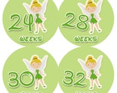 Belly Stickers- TinkerBelly- 12 stickers to document your pregnancy- NEW Waterproof  Stickers EXTRA Durable
