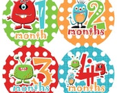 Baby Month Stickers Baby Monthly Stickers Boy Monthly Bodysuit Stickers Baby Shower Gift Photo Prop Baby Milestone Sticker