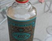 Vintage no. 4711 original Eau de Cologne Glass Bottle