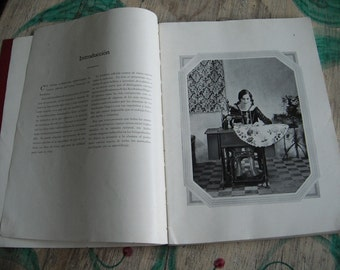 Singer Sewing Machine Book Rare 1929 Edition Antique Vintage SPANISH