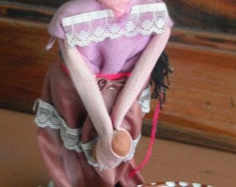 Vintage Folk Art Cute Mexican Doll Handmade