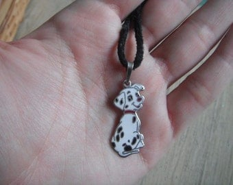 Vintage Dalmatian silver  Necklace
