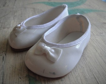 Vintage or Antique Baby  Plastic  Doll Shoes - Sole Leather