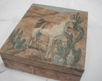 Hand Painted Wooden Jewelry Box