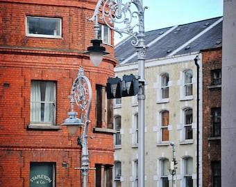 St Patricks Day, March, Shamrock, Lamp post, Architecture, Dublin's Trinity Posts, Ornamental, Entry, Margaret Dukeman, Fine Art Photography