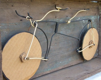 Bike Tandem workbox assemblage sculpture