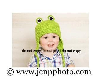 Frog Earflap Hat