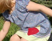 Amber top/tunic or dress - pdf tutorial ebook - 3m- 12y