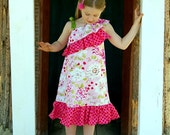 SAVANNAH ONE Shoulder top/dress - Pdf Pattern - Sizes 3M -Girls 12y