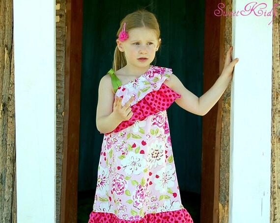 SAVANNAH ONE Shoulder top/dress - Pdf pattern - Sizes 3M - 12y