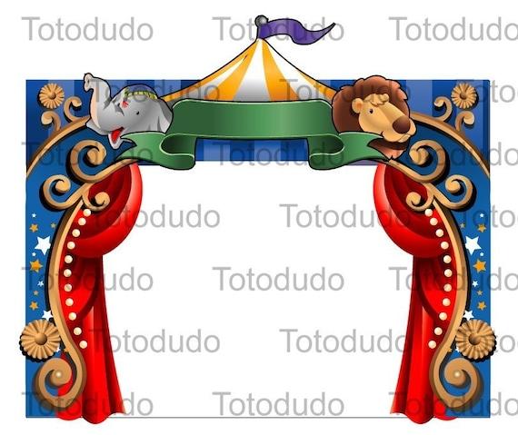Items similar to circus border digital clipart on Etsy