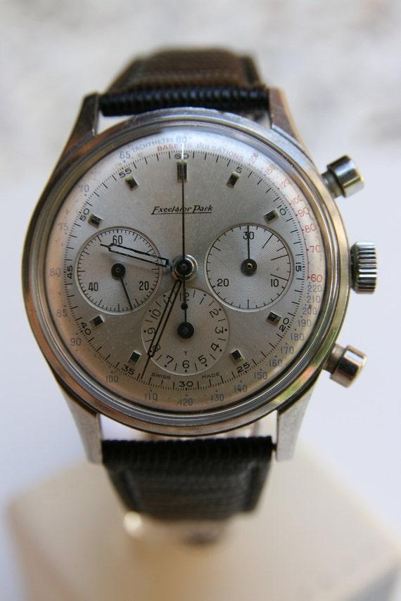 Vintage Excelsior Park mens wrist watch 40s in mint condition