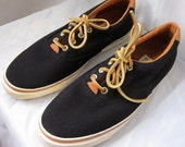 Vintage 1991 Deadstock KEDS Boat Shoes Leather Laces