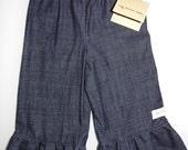 Ruffle Pants - Dark Denim 6/9m, 12m, 18m, 2t, 3t, 4t, 5t