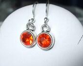 Orange Jelly Earrings
