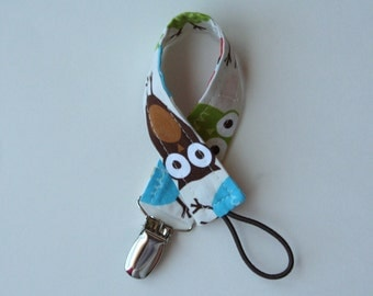 Universal Pacifier Clip - Urban Owls Bermuda