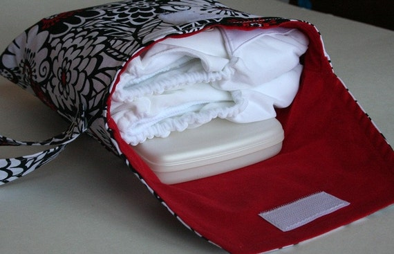 Large Diaper and Wipes Pod for Cloth or Disposable Diapers - Zesty Zinnia
