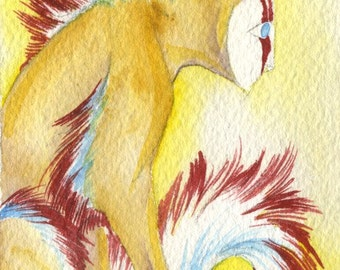 Sitting Sphinx ACEO Giclee Print