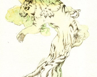 TreeTiger 8.5x11 Giclee Print