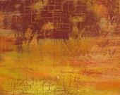 Scarlet Sky - Original Encaustic Painting