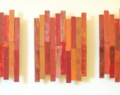 Red Shim Triptych - Original Encaustic Paintings